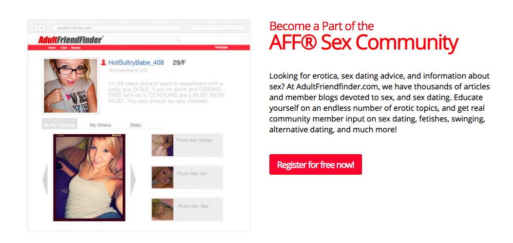 AdultFriendFinder sex community